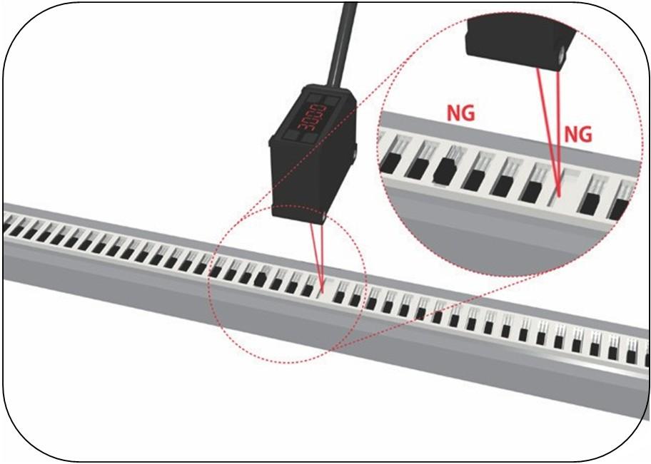 激光位移传感器电子部件的有无凸起检测