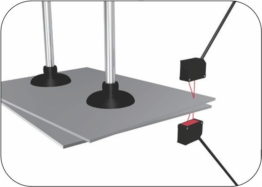 激光测距传感器板材的厚度检测